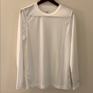 White athletic T shirt wicking Men's S
